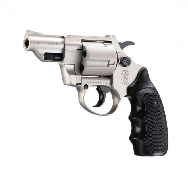 Smith & Wesson Combat cal. 9 mm R.K., vernickelt